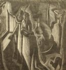 Margaret Bryan 1930's limited edition; 'Storm watchers'